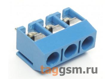 KF301V-5.0-03P-1B (Синий) Винтовой клеммник на плату 3 конт. шаг 5мм 250В 17,5А