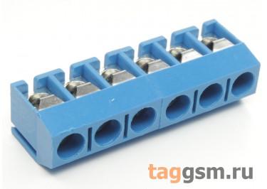 KF301V-5.0-06P-1B (Синий) Винтовой клеммник на плату 6 конт. шаг 5мм 250В 17,5А