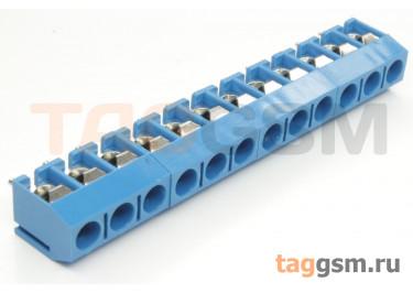 KF301V-5.0-12P-1B (Синий) Винтовой клеммник на плату 12 конт. шаг 5мм 250В 17,5А