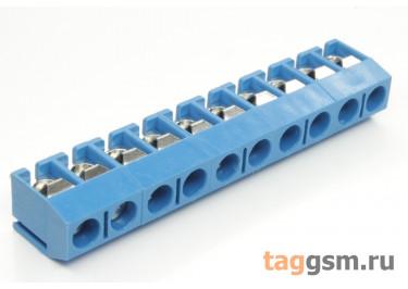 KF301V-5.0-10P-1B (Синий) Винтовой клеммник на плату 10 конт. шаг 5мм 250В 17,5А