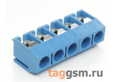 KF301V-5.0-05P-1B (Синий) Винтовой клеммник на плату 5 конт. шаг 5мм 250В 17,5А