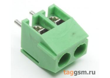 KF350V-3.50mm-02P-1G (Зеленый) Винтовой клеммник на плату 2 конт. шаг 3,5мм 130В 10А