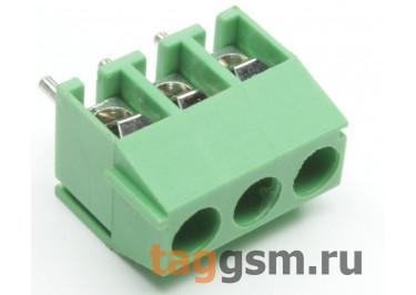 KF350V-3.50mm-03P-1G (Зеленый) Винтовой клеммник на плату 3 конт. шаг 3,5мм 130В 10А