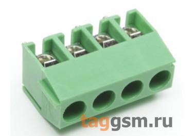 KF350V-3.50mm-04P-1G (Зеленый) Винтовой клеммник на плату 4 конт. шаг 3,5мм 130В 10А