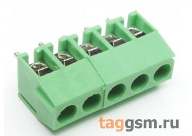 KF350V-3.50mm-05P-1G (Зеленый) Винтовой клеммник на плату 5 конт. шаг 3,5мм 130В 10А