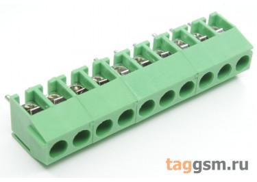 KF350V-3.50mm-10P-1G (Зеленый) Винтовой клеммник на плату 10 конт. шаг 3,5мм 130В 10А