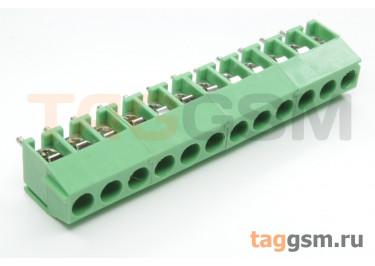 KF350V-3.50mm-12P-1G (Зеленый) Винтовой клеммник на плату 12 конт. шаг 3,5мм 130В 10А