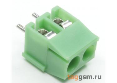 LF396V-3.5-02P Винтовой клеммник на плату 2 конт. шаг 3,5мм 300В 7А (Зеленый)