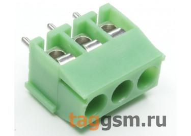 LF396V-3.5-03P Винтовой клеммник на плату 3 конт. шаг 3,5мм 300В 7А (Зеленый)