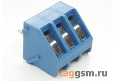 LF330-5.0-03P (Синий) Винтовой клеммник на плату 3 конт. шаг 5мм 300В 15А