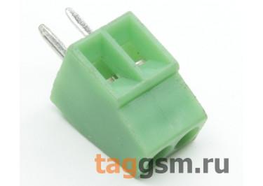 LF120-2.54-02P (Зеленый) Винтовой клеммник на плату 2 конт. шаг 2,54мм 150В 6А