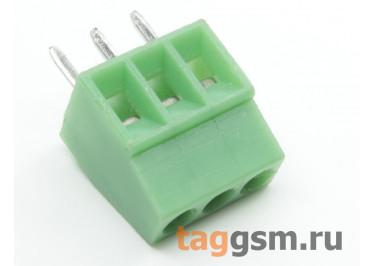LF120-2.54-03P (Зеленый) Винтовой клеммник на плату 3 конт. шаг 2,54мм 150В 6А