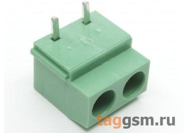LF126R-5.0-02P (Зеленый) Винтовой клеммник на плату угловой 2 конт. шаг 5мм 300В 10А
