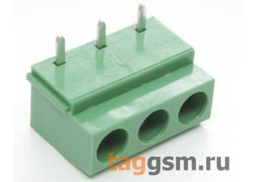 LF126R-5.0-03P (Зеленый) Винтовой клеммник на плату угловой 3 конт. шаг 5мм 300В 10А