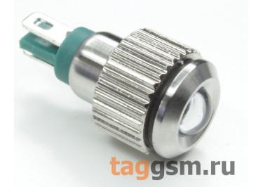 QN8-LED-B  / Green Светодиодный индикатор на панель 12В 8мм (Зеленый)