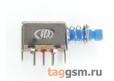 PS-22E01N Кнопочный переклюатель без фиксации ON-(ON) DPDT 50В 0,5А