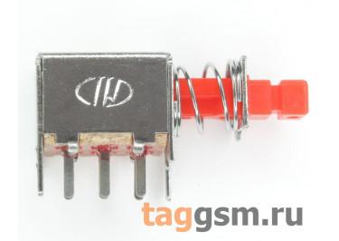 PS-22F03N Кнопочный переклюатель без фиксации ON-(ON) DPDT 50В 0,5А