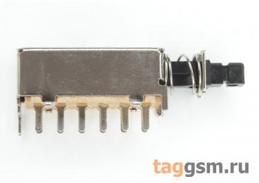 PS-42F09L Кнопочный переклюатель с фиксацией ON-ON 4PDT 50В 0,5А