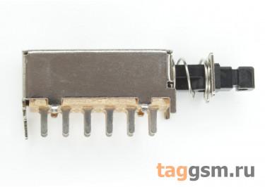 PS-42F09N Кнопочный переклюатель без фиксации ON-(ON) 4PDT 50В 0,5А