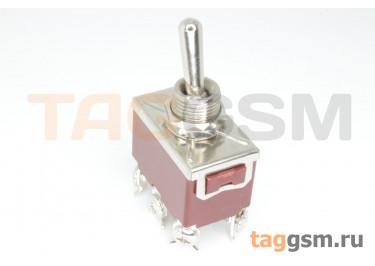 QN201A-20L Тумблер на панель ON-ON DPDT 250В 15А (12мм)