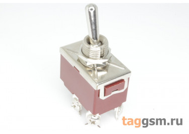 QN201A-10L Тумблер на панель ON-OFF DPST 250В 15А (12мм)