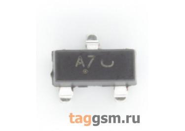 BAV99LT1G (SOT-23) Диод импульсный SMD 100В 0,215А (х2 последовательно)