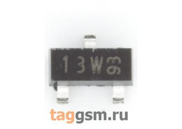 BSS84 (SOT-23) Полевой транзистор P-MOSFET 50В 0,13А