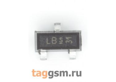 BF999 (SOT-23) Полевой транзистор N-MOSFET 20В 0,03А