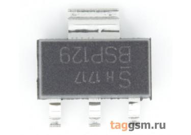BSP129 (SOT-223) Полевой транзистор N-MOSFET 240В 0,35А