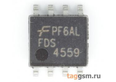 FDS4559 (SO-8) Полевой транзистор N / P-MOSFET 60В 4,5A / 3,5A