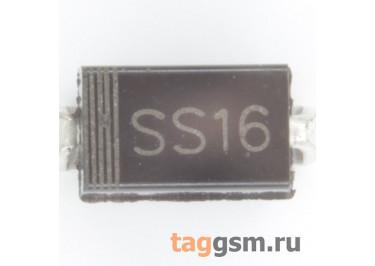 SS16 (DO-214AC) Диод Шоттки SMD 60В 1А