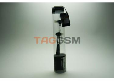гарнитура iPhone в пластмассовой колбе черная