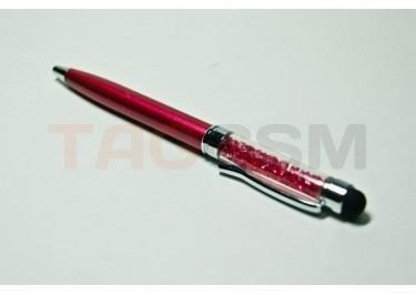 Стилус-ручка тепловой со стразами Swarovski S031 (малиновый)