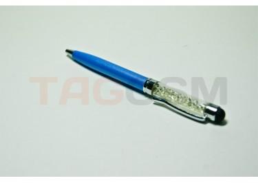 Стилус-ручка тепловой со стразами Swarovski S031 (синий)
