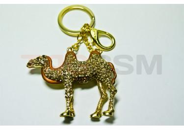 """Брелок большой для ключей """"Верблюд"""" со стразами"""