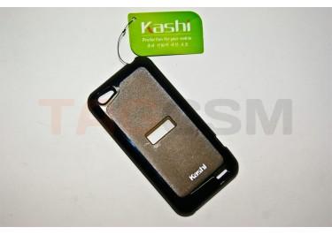 Задняя крышка KSH HTC One V силикон-пластик+защитная пленка черная