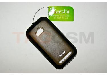 Задняя крышка KSH Nokia 710 силикон-пластик+защитная пленка черная