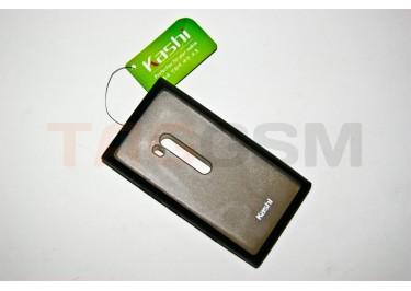 Задняя крышка KSH Nokia 900 силикон-пластик+защитная пленка черная