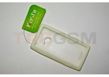 Задняя крышка KSH Nokia X7 силикон-пластик+защитная пленка белая