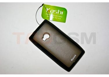 Задняя крышка KSH Nokia X7 силикон-пластик+защитная пленка черная