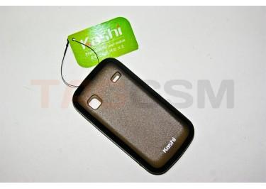Задняя крышка KSH Samsung S5660 силикон-пластик+защитная пленка черная