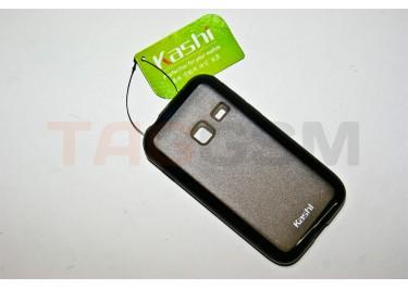 Задняя крышка KSH Samsung S5820 силикон-пластик+защитная пленка черная
