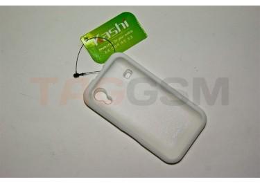 Задняя крышка KSH Samsung S5830 силикон-пластик+защитная пленка белая