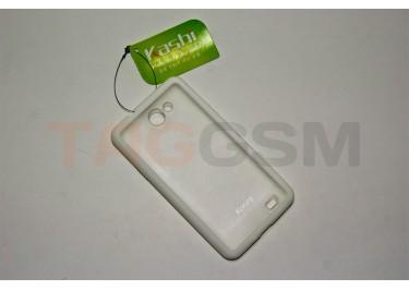 Задняя крышка KSH Samsung i9103 силикон-пластик+защитная пленка белая