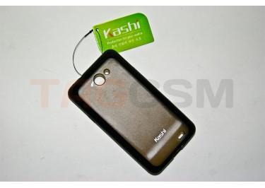 Задняя крышка KSH Samsung i9103 силикон-пластик+защитная пленка черная