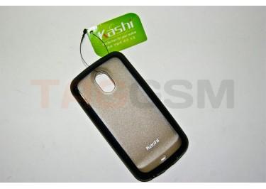 Задняя крышка KSH Samsung i9250 силикон-пластик+защитная пленка черная