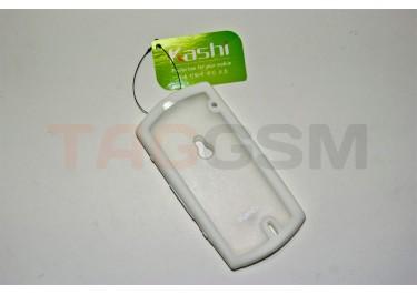 Задняя крышка KSH Soni Ericsson MT11i / MT15i силикон-пластик+защитная пленка белая