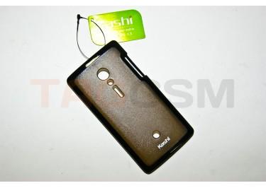Задняя крышка KSH Soni Ericsson Xperia LT28i силикон-пластик+защитная пленка черная