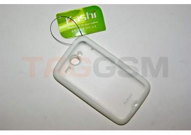 Задняя крышка KSH HTC Chacha силикон-пластик+защитная пленка белая