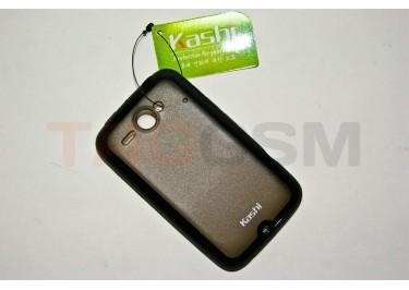 Задняя крышка KSH HTC Chacha силикон-пластик+защитная пленка черная